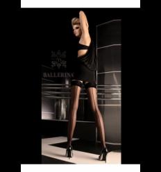 Art. 049 zwart stay-up kousen 20den